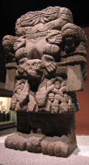 Sculpture of Coatlicue the Aztec goddess