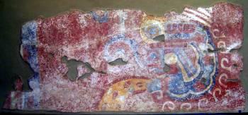 Aztec snake fresco