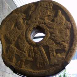An actual ring used for the ancient Aztec ball game
