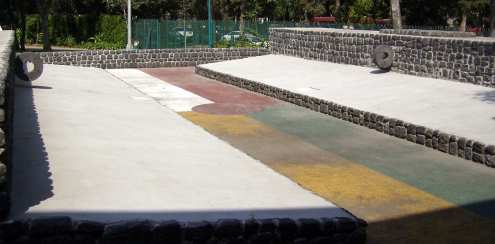 Aztec ball game court