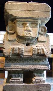 Chalchiuhtlicue statue from the Moon Pyramid
