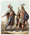 Moctezuma and Cortes meet