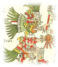 Huitzilopochtli - one of the most important Aztec gods