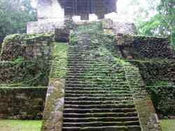 Postclassical Mayan temple at Topoxte