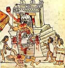 Aztec sacrifice picture