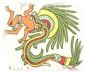 Quetzalcoatl eats