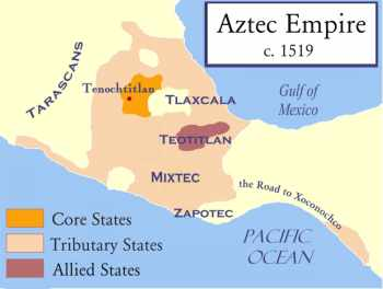 Aztec Empire World Map.The Aztec Empire